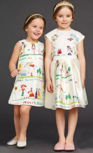 Baby Sleeveless Graffiti Print Dress in Children Frocks Clothes pictures & photos