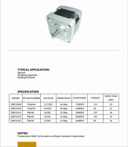 High Torque Stepping Motor for Auto Electric Parts/CNC Controller pictures & photos