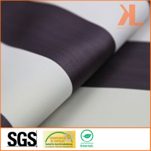 Polyester White Brown Striped Twilled Inherently Flame Retardant Fireproof Blackout Fabric pictures & photos