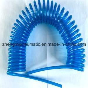 Transparent-Blue PU Coil Hose (95A hardness) pictures & photos