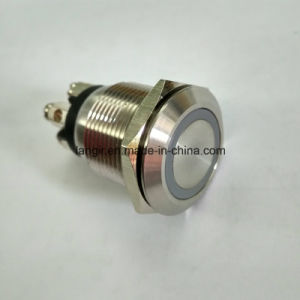 19mm Micro Trip 12V Ring Illumination Waterproof Pushbutton Switch pictures & photos