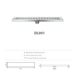 Long Stainless Steel Bathroom Hardware Floor Drain (DL001) pictures & photos