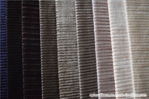 Jacquard Polyester Velour Decorative Fabric for Sofa pictures & photos