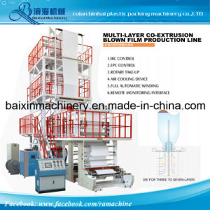 3.5.7layer Co-Extruder High Speed Plastic Film Blowing Machine (GD-3000) pictures & photos