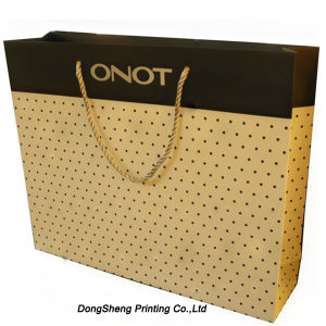 China Gold Foil Hot Stamp Paper Gift Shopping Bag for Apparel ...