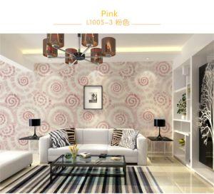 Seamless Luxury Classic Circles Embossing Wallpaper Fabric Hotel Bedroom Livingroom