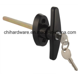 Powder Coating Black Door and Window T Handle Lock pictures & photos
