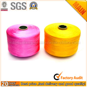Flat Bobbin Intermingled Polypropylene Yarn for Webbing pictures & photos