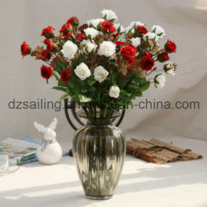 Colorful Artificial Wedding Rose Flower for Decoration (SF15586A)