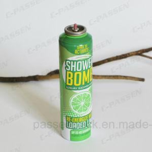 Aluminum Body Care Spray Aerosol Bottle with Shaped Body (PPC-AAC-008) pictures & photos