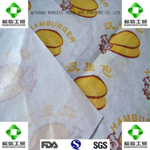One Side PE Coated Hamburger Wrapping Paper pictures & photos