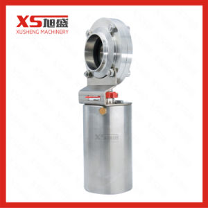 Stainless Steel Sanitary Hygienic Weld-Weld Pneumatic Butterfly Valves pictures & photos
