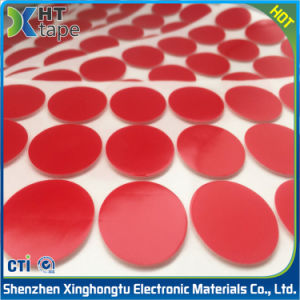 Die Cutting Round Red Film PE \EVA /Cr Foam Double Sided Tape pictures & photos