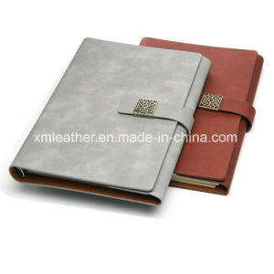Real Leather Refilable Journal Notebook Diary with Ring Binder pictures & photos