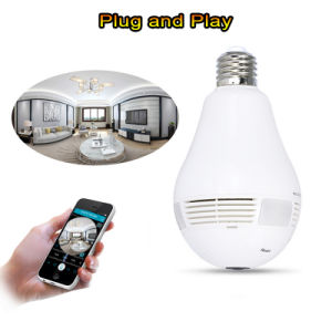 Wdm Security 360 Panoramic Camera 3.0MP Resolution Smart Home WiFi Lighting Bulb IP Camera pictures & photos