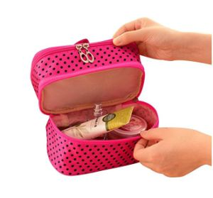 New Fashion Women Generic DOT Pattern Lighted Portable Makeup Cosmetic Case pictures & photos
