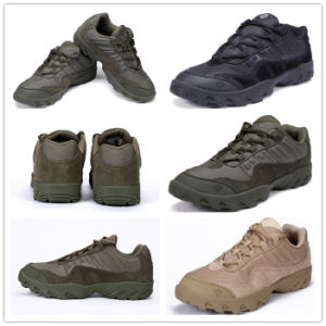 Green High Quality Leather Military Shoes Sneaker Wholesale Tactical Boots pictures & photos