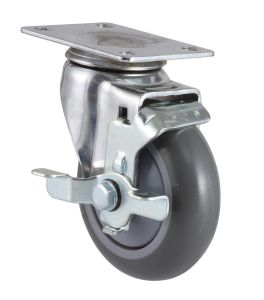 PU Caster Threaded Stem with Side Brake pictures & photos