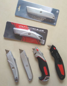 Heavy Duty Utility Knife Zinc-Alloy Material pictures & photos