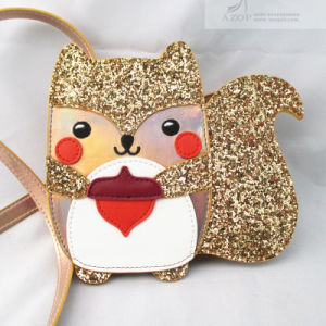 Rose Gold Glitter PU Novelty Squirrel Cross Body Bag pictures & photos