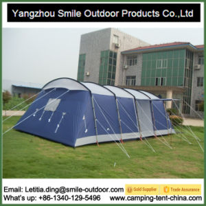 Custom Printed Large Canopy Tunnel Camping Luxury Family Tent pictures & photos