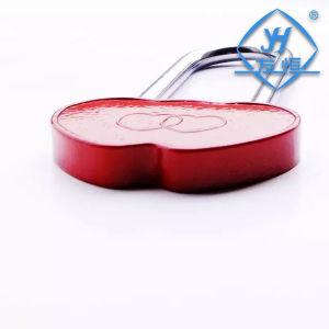 Long Hook Aluminium Different Color Double Heart Padlock pictures & photos