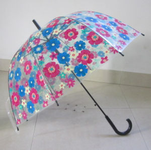 6mm Shaft Big Bowknot Printing Cover Poe Umbrella for Wholesale (YSN25)