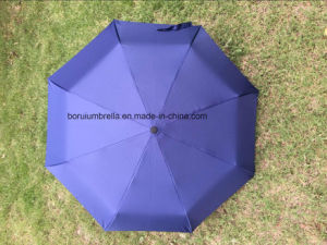 End-Year Gifts 3 Folded Umbrella with Manual Open, Rubber Handle (BR-FU-402) pictures & photos