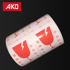 """2""""2"""" (50.8mm*50.8mm) Attention Pre-Printed Coated Layer Self Adhesive Sticker Rolls for Supermarket pictures & photos"""
