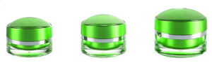 Eye Shaped Cosmetic Packing Acrylic Cream Jar pictures & photos