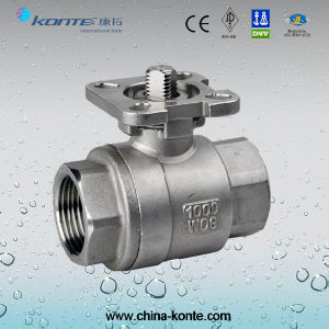 ISO 5211 Mounting Pad 2PC Ball Valve Without Handle pictures & photos