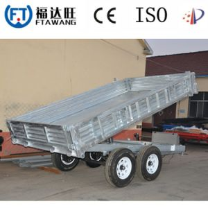 High Quality Single Axle Flatbed Semi Trailer with Jocky Wheel pictures & photos