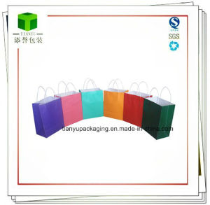 Colorful Square Bottom Kraft Paper Bag pictures & photos