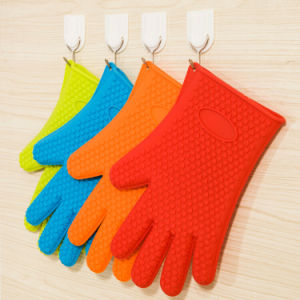 Silicone Hot Kitchen Pot Holder Glove Oven Mit (EB-93256-8) pictures & photos