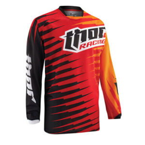 Red Customized Polyester Sublimation Motorcycle Jersey (MAT38) pictures & photos