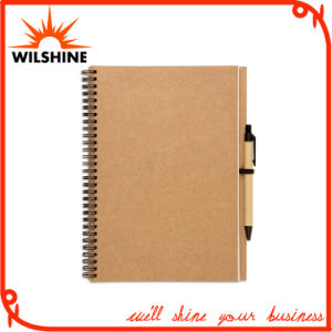 A4 Size Kraft Paper Blank Notebook with Pen for Advertising (SNB128) pictures & photos