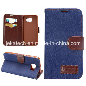 Jean Skin Wallet Case for Samsung Galaxy S6 pictures & photos