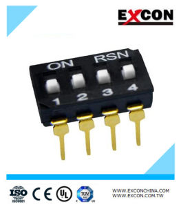4 Position Piano Key Switch Excon Ri-04 Toggle DIP Switch pictures & photos