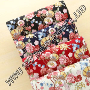 Fashion Big Flower Designs for Ladies Dress Printing Microfiber Fabric pictures & photos