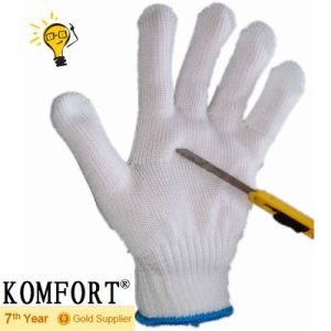 Industry White Anti-Cut Work Steel/Polyester Cut-Resistant Glove (JMC-384E) pictures & photos