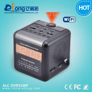 Alarm Clock Radio WiFi IP Camera, Indoor Security Camera