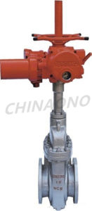 Electric Flange Type Flat Gate Valve pictures & photos