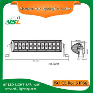 16 Inch Vehicle 12V LED Light Bar LED Work Light Bar High Quality 72W LED Light Bars pictures & photos