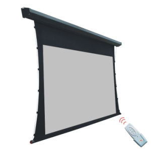 "200"" Electric Projector Screen Tab Tensioned with 3D Screen pictures & photos"