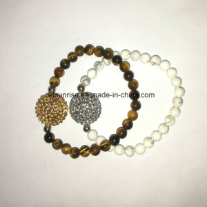 Semi Precious Stone Tiger Eye Howlite Beaded Bracelet pictures & photos