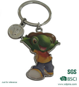 High Quality Custom Design Metal Printed Keychain with Key Ring pictures & photos
