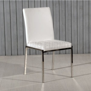 Cheap Chrome Steel Foot with PU Leather Dining Chair (NK-DC025)