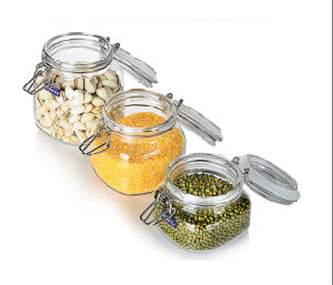 Preserving Biscuit Glass Storage Jar Clamp Jar pictures & photos