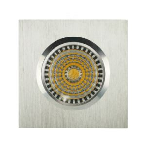 Lathe Aluminum GU10 MR16 Square Fixed Recessed LED Spot Down Light (LT2001) pictures & photos