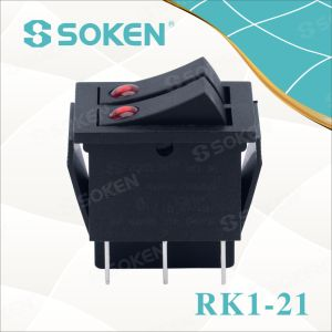 Soken Rk1-21 Lens on off Illuminated Double Rocker Switch pictures & photos